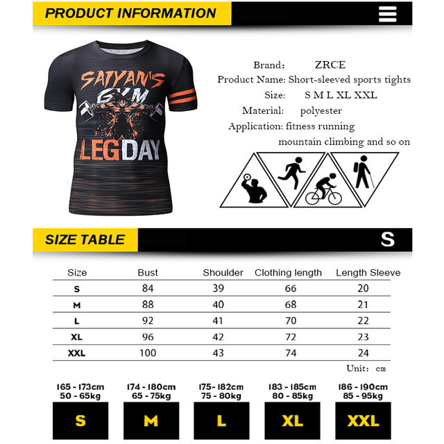 Dragon Ball Super Saiyan Hip Hop 3D Print Casual Men's T-shirt