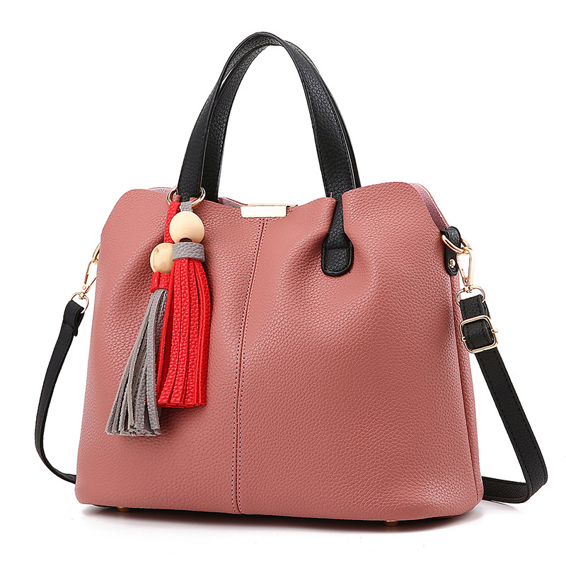 ФОТО Hot sale women leather top-handle bags hobos male shoulder bag and handbag tassel beading women famous brands tote bolsos mujer