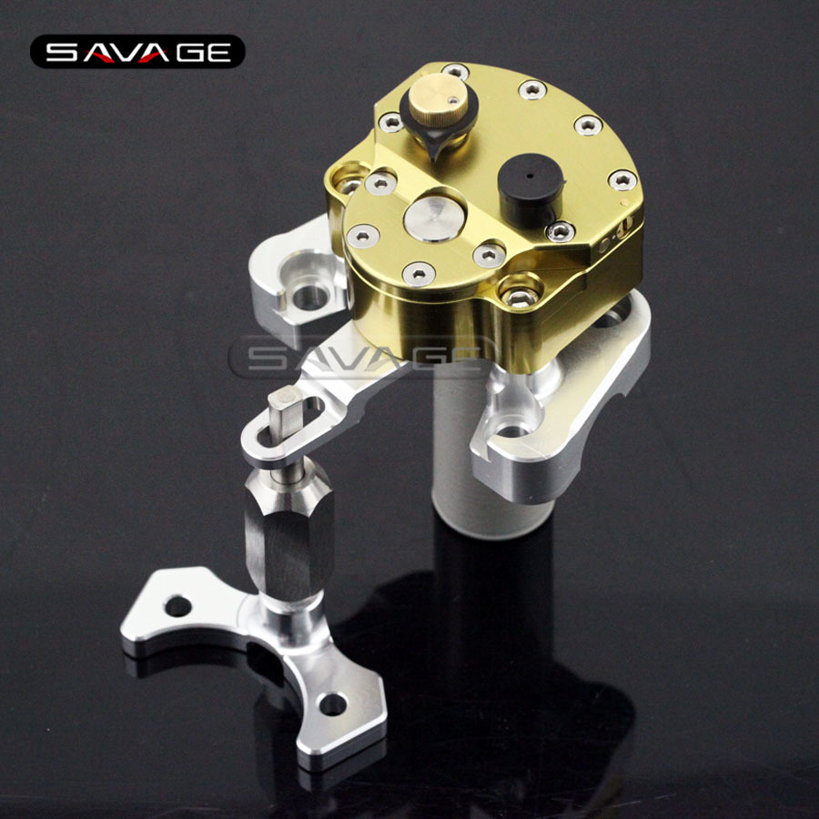 For DUCATI MONSTER 696 2008-2014 Motorcycle Accessories Steering Damper Stabilizer with Mount Bracket Kit al ko 32см 112725