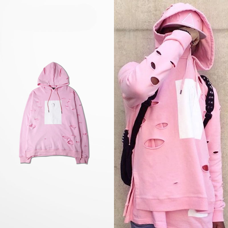 Aliexpress.com : Buy New Fashion Mens Hip Hop Pink Hoodies With ...