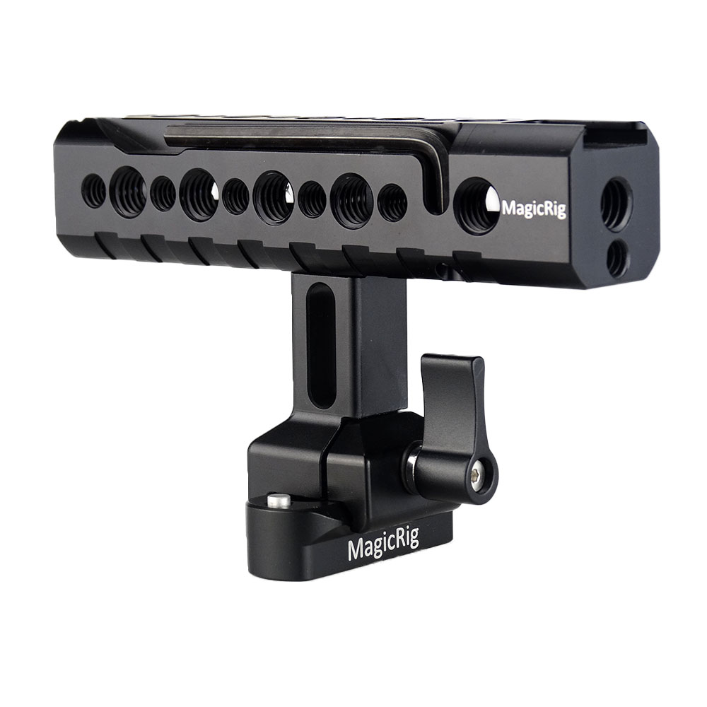 MAGICRIG DSLR Camera Handle Universal Hand Grip NATO Handle Kit with 48mm NATO Rail and Cold