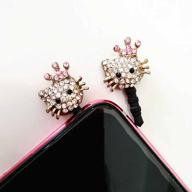 Anti Dust plug 3D Kawaii Diamond Plugs for Cell Phones Smartphone Phone Accessories USB Cover Cute Earphone Jack Plug