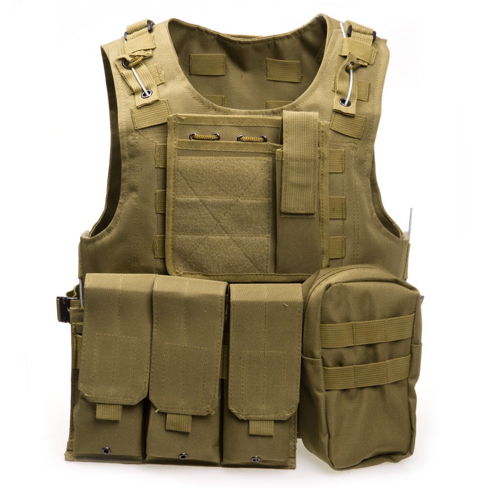 High quality Airsoft CS Paintball outdoor Tactical Hunting Combat Assault Vest Training Mesh Waistcoat Safety Hunting Equipment tactical hunting airsoft paintball hunting combat assault vest outdoor training hunting waistcoat military vest safety clothing