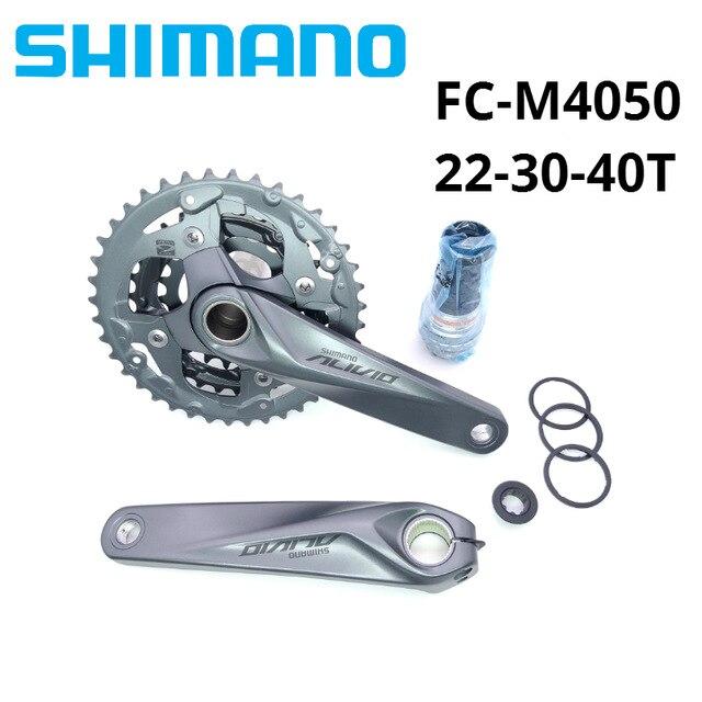 Shimano Alivio M4050 bike crank FC M4050 22 30 40T 170mm 3*9 27 speed HollowTech bicycle crankset chainwheel with BB52