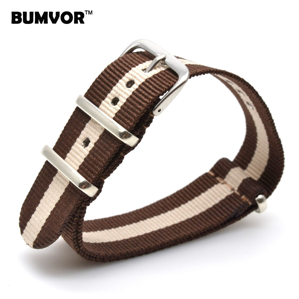 Brand New watches 20 mm Strong bracelet Multi Color Brown Army nato fabric Nylon watchbands Straps Bands Buckle belt 20mm