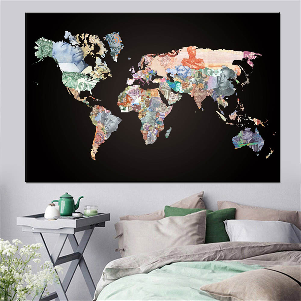 world map canvas painting (4)
