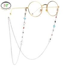 F.J4Z New Men Glasses Landyards Fashion Colorful Glass Beaded Sunglasses Holder Women Eyewear Chain Straps