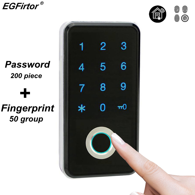 Fingerprint Password Combination Smart Lock Digital Electronic Door Lock Security Intelligent Password Lock For Home Alarm