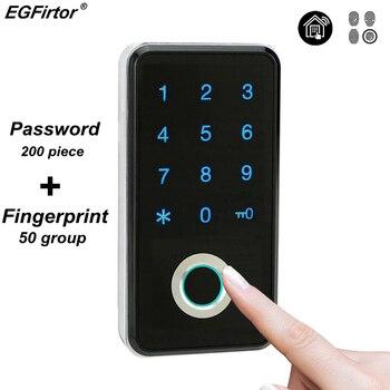 Fingerprint Password Combination Smart Lock Digital Electronic Door Lock Security Intelligent Password Lock For Home Alarm digital electronic smart lever locks handle password passage entry satin chrome password lock