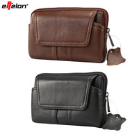 Effelon Genuine Leather Luxury Phone Bag Pouch Mobile Phone Belt Pouch Purse Waist Bag For IPhone