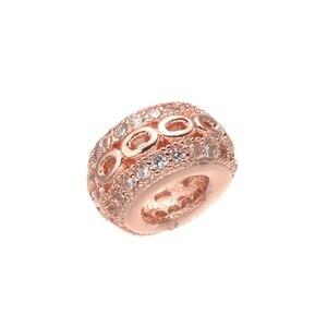 Круглые бусины JUYA с большим отверстием, стразы, роскошные бусины из фианита Mirco, подходят для европейских браслетов, поставщиков ювелирных изделий