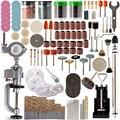 340 шт., мини-дрель, набор аксессуаров для полировки, наборы Dremel, микро-дрель, вращающиеся полировальные биты, электроинструменты