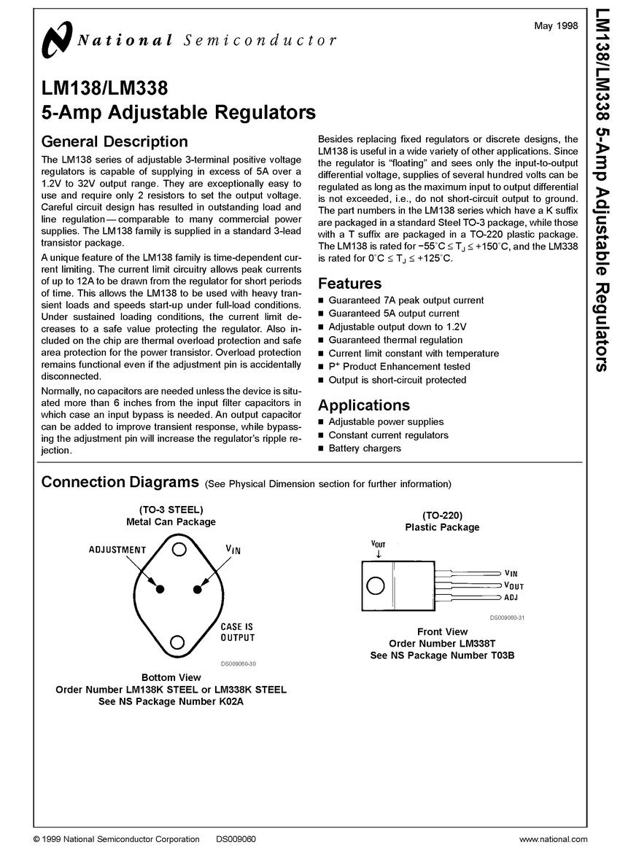 Lm338k Voltage Regulator8 Daftar Harga Terkini Dan Terlengkap High Current Adjustable Power Supply Circuit 030v 20a Using Lm338 2 Pcs Lot Lm338t 5amps Regulator Ic