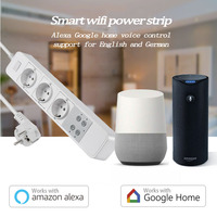 Work With Amazon Echo Alexa WiFi Smart EU Power Strip Surge Protector Smart Socket Home Strip