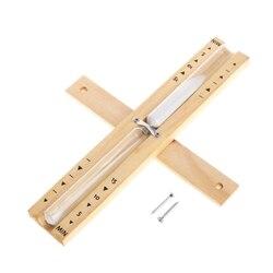 Naścienny obrotowy Sauna drewniany klepsydra biały piasek zegar 15 minut W315