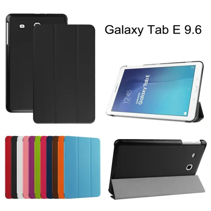 3-Folding Ultra Thin Slim Sleeve Magnetic Folio Stand Leather Case Smart Cover For Samsung Galaxy Tab E T560 T561 SM-T560 9.6 ultra thin smart flip pu leather cover for lenovo tab 2 a10 30 70f x30f x30m 10 1 tablet case screen protector stylus pen