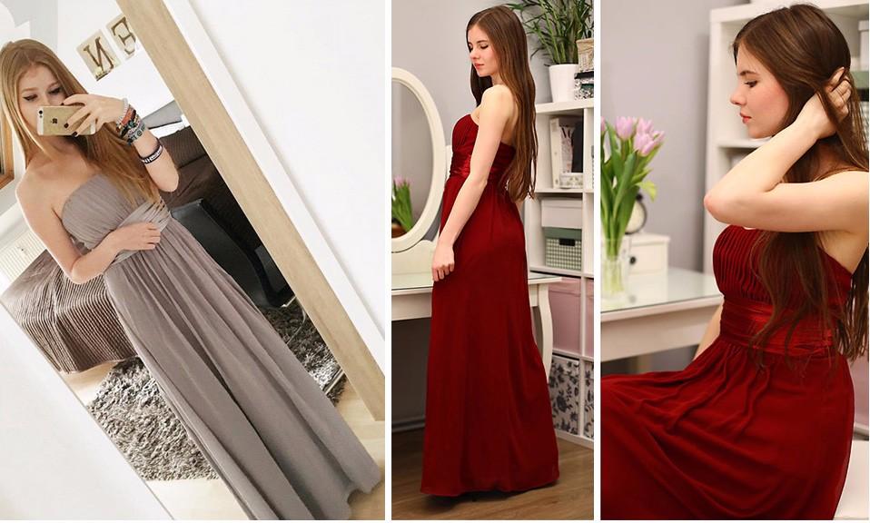 Lihtsad pikad paelteta kleidid