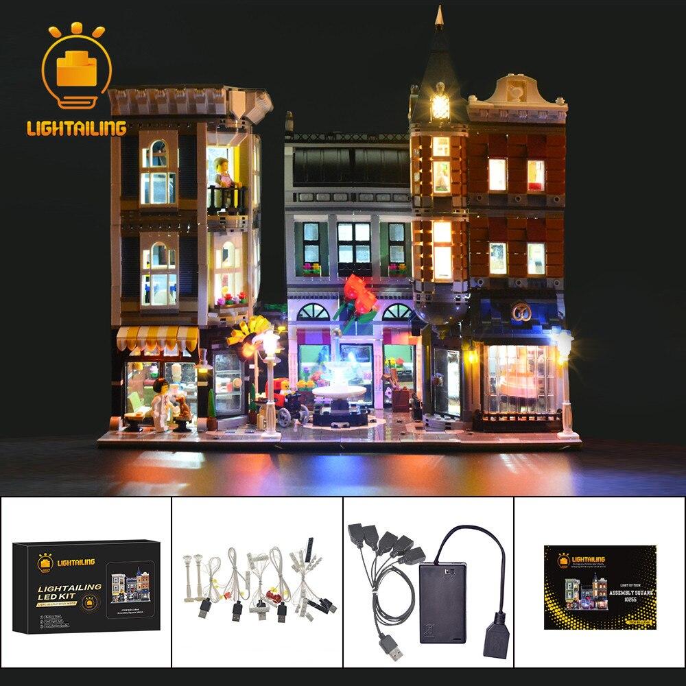 LIGHTAILING LED Light Kit Voor Cerator De Montage Vierkante Set Bouwsteen Verlichting Set Compatibel Met 10255 En 15019-in Blokken van Speelgoed & Hobbies op  Groep 1