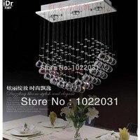 High end europäischen stil k9 kristall lampen led luxus pendelleuchten Schlafzimmer lampe Halle lampe factory outlets-in Pendelleuchten aus Licht & Beleuchtung bei
