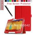 Ультратонкий фолио тонкий искусственная кожа стенд чехол обложка книги для Samsung Galaxy Note 10.1 2014 издание планшет P600 / P601 / P605 ( красный )