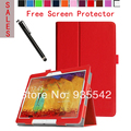 Ultra Thin Folio Slim PU Leather Stand Case Book Cover for Samsung Galaxy Note 10.1 2014 Edition Tablet P600 / P601/ P605 (Red)