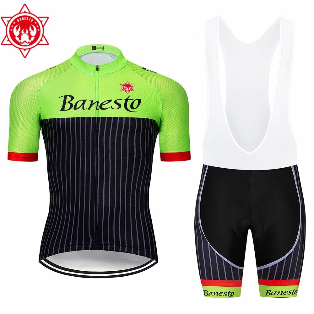 Di alta qualità 2018 Banesto Cycling Jersey Maglia Ciclismo Manica Corta e il Ciclismo bib Shorts Ciclismo Ka Ciclismo