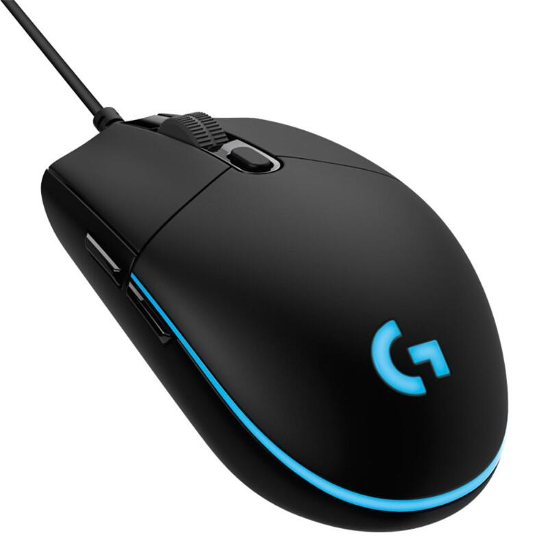 Logitech G Pro Gaming FPS <font><b>Mouse</b></font> <font><b>12000</b></font> <font><b>DPI</b></font> RGB Backlit 6 Programmable Macro Button Wired <font><b>Mouse</b></font> for Competitive Play Office Home image