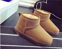 2016 winter kind snowboots meisjes/jongens katoen gevoerde schoenen kids baby verdikking thermische laarzen kinderen anti-slip schoenen