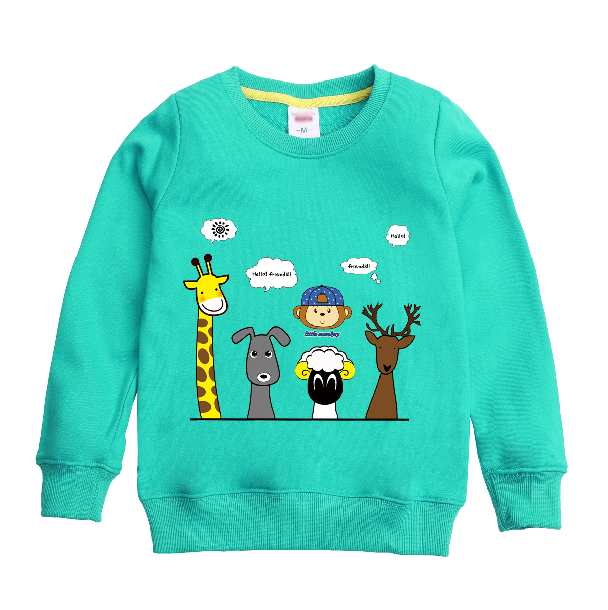 Winter autumn full sleeve sweatshirt cute animal printed design for child with eight colors for child select winter sweater