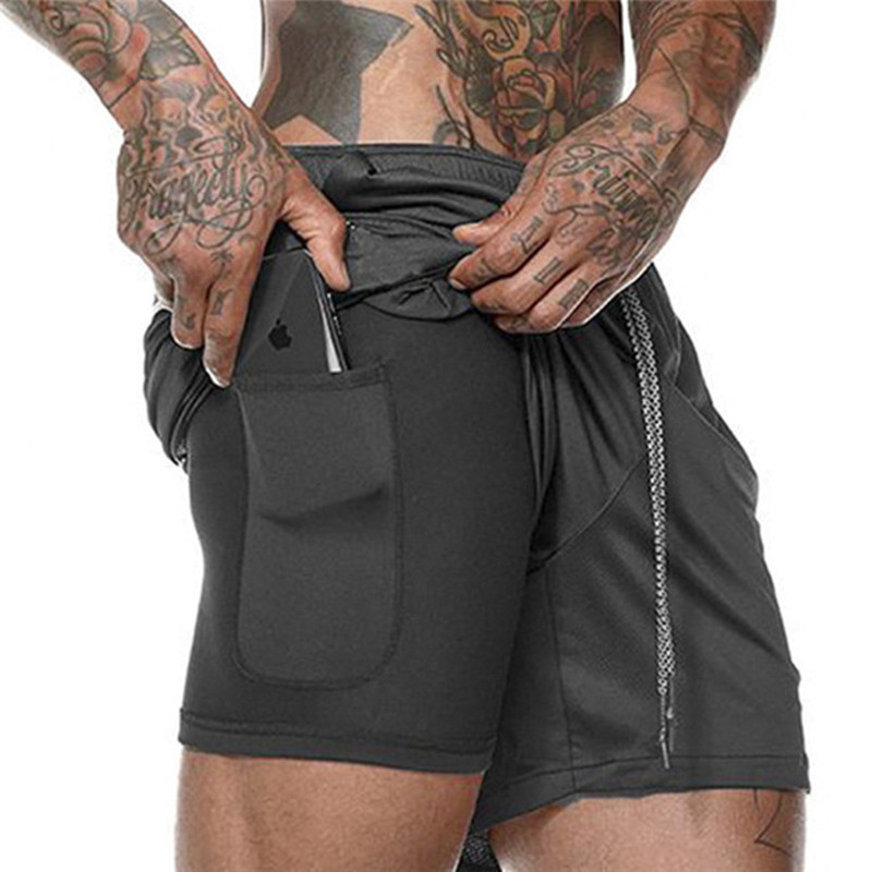 Ultimate Sale2019 NEW Men's Running Shorts Mens 2 in 1 Sports Shorts Male double-deck Quick Drying Sports men Shorts Jogging Gym Shorts men
