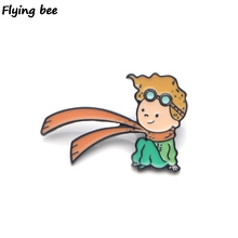 Flyingbee Le Petit Prince Enamel Pin For Clothes Bags Backpack badge Funny Cute Brooch Shirt Lapel Pins X0226