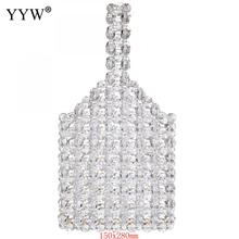 Transparent Crystal Glass Pearl Purse Bag Handmade Women Handbag Hollow Solid Top Handle Hand Bags Female White