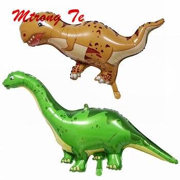 50pcs Large Cartoon Dinosaur Balloon Tyrannosaurus Rex Balloons Globos for Baby Shower Birthday Animal Party Decoration Supplies