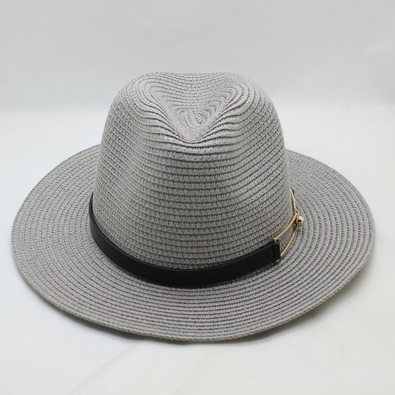 BINGYUANHAOXXUAN Summer Travel Sun Hat Woman Beach Solar Big Hooded Jazz Hat  Sunshade sunscreen Couple Straw Hat 12c2831e1590