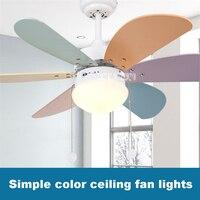 New KF A0601 Household Fan Chandelier Ceiling lights Restaurant Fan Lights Children Room Modern Simple LED Fan Lights 220v 55W