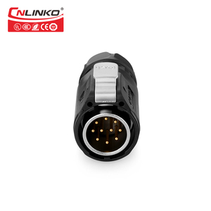 Image 4 - CNLINKO M24 PBT Plastic 10 12 19 24 Pin Outdoor Multi Core AC DC IP67 Waterproof Connector Power Signal Male Female Wire Adapter