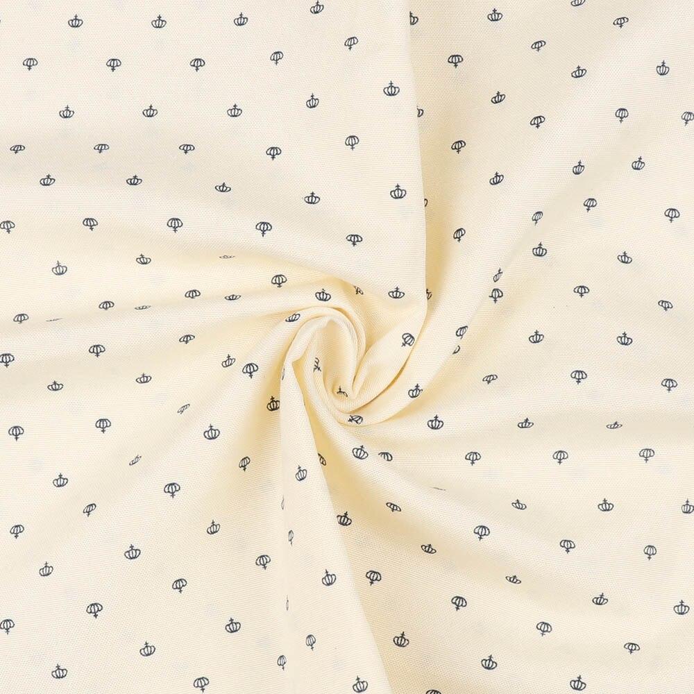 50 cm * 150 cm Baumwolle Stoff Einfarbig Krone Gedruckt Tuch Stoff Patchwork Quilten Baby Krippen Kissen Decke Nähen material