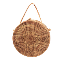 2017 Small Circle Straw Bags Women Handmade Beach bag Summer Holiday Rattan Handbags Butterfly Women Messenger Bag Bamboo Totes