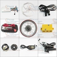 DIY Electric mountain bike Strong Brushless Gearless Hub Motor 24V 500W Front Wheel Electric Bike Conversion Kits with LCD meter