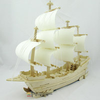 Hot Sale JIGSAW 3d Stereo Gift Handmade Assembled Ancient Sailing Model Christmas Gift 3D WOODEN PUZZLE