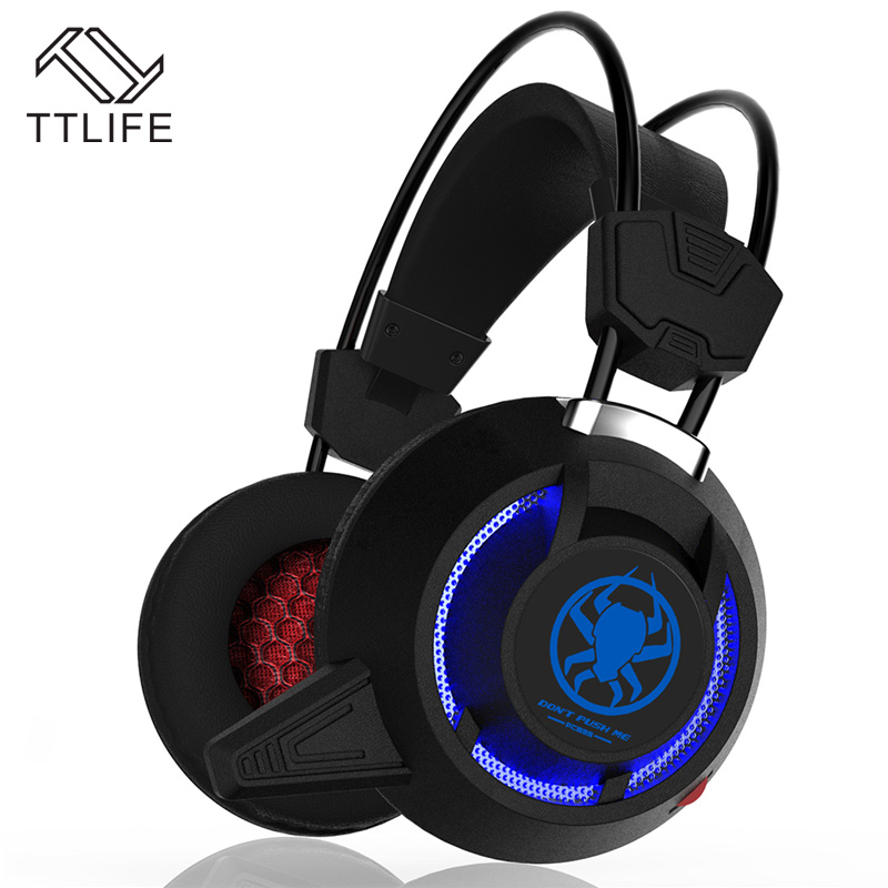 TTLIFE Wired Headphones PC835 Black White Heavy Bass Big Gaming HIFI Music Original Headset With Mic for Computer Phone