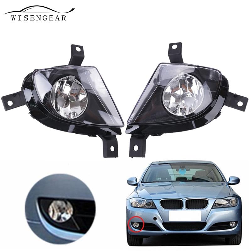 WISENGEAR For BMW E90 E91 Fog Light Spotlight Driving Lamp 3 Series 2009 2010 2011 63177199893 63177199894 Bumper Clear Lens wisengear clear lens fog lights bumper driving lamp housing for bmw e39 5 series 528i 540i 1997 2000 z3 1997 2001 car styling