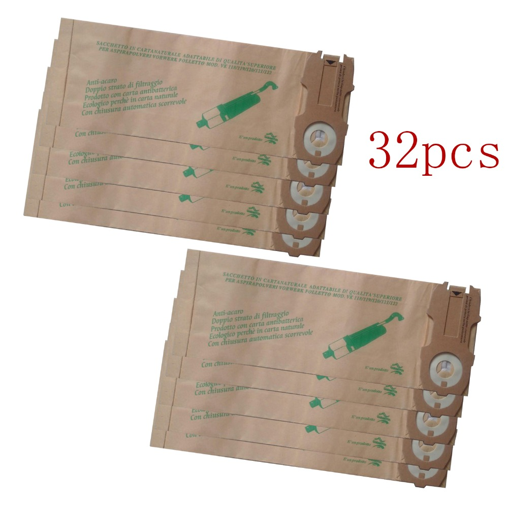 32 pcs/lot hoover robot vacuum cleaner parts Dust Bags for VK118 VK119 VK120 VK121 VK122 Paper bag garbage bags Free shipping. ntnt free post new 5 pcs bags dust bag