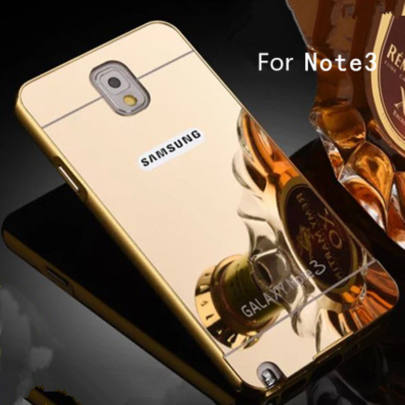 innovative design 54811 c6dd8 US $8.9 |Luxury phone case for samsung galaxy note 3 n900 Metal Coque for  samsung note3 mirror case Capinha aluminum frame + acrylic back on ...