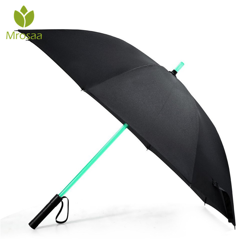7 Color LED Lightsaber Light Up Umbrella Laser sword Light up Golf Umbrellas Changing On the Shaft/Built in Torch Flash Umbrella