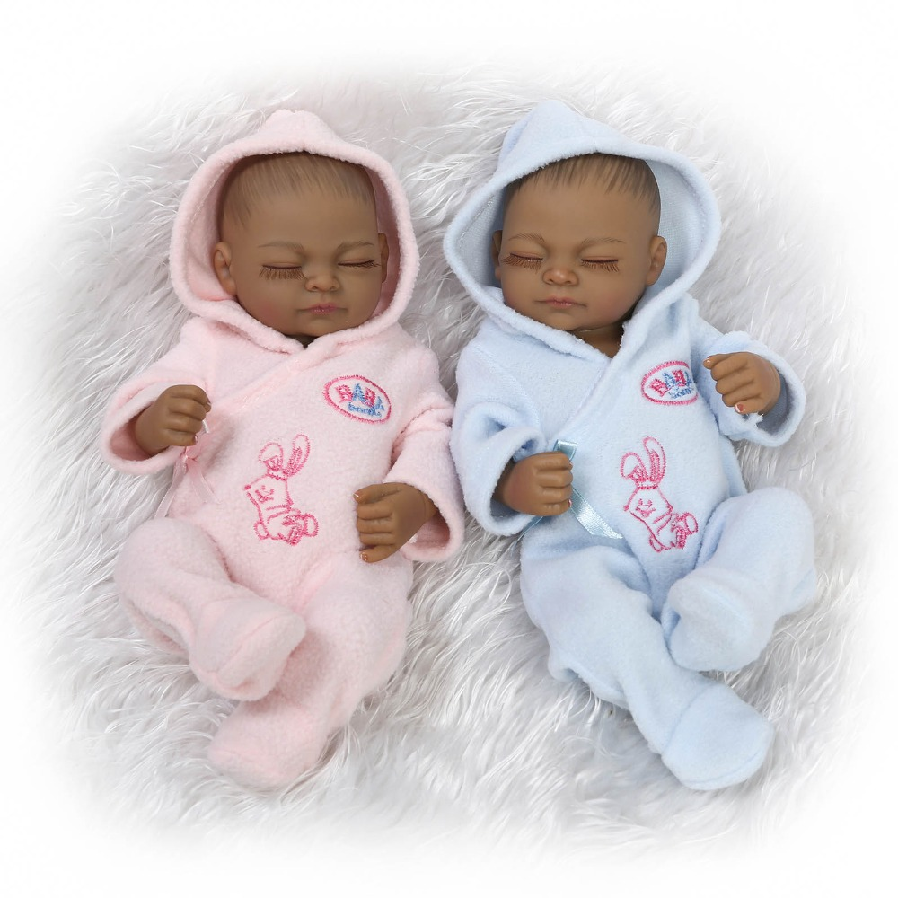 10inch newest lovely miniature preemie newborn baby doll baby bathing toys child gifts