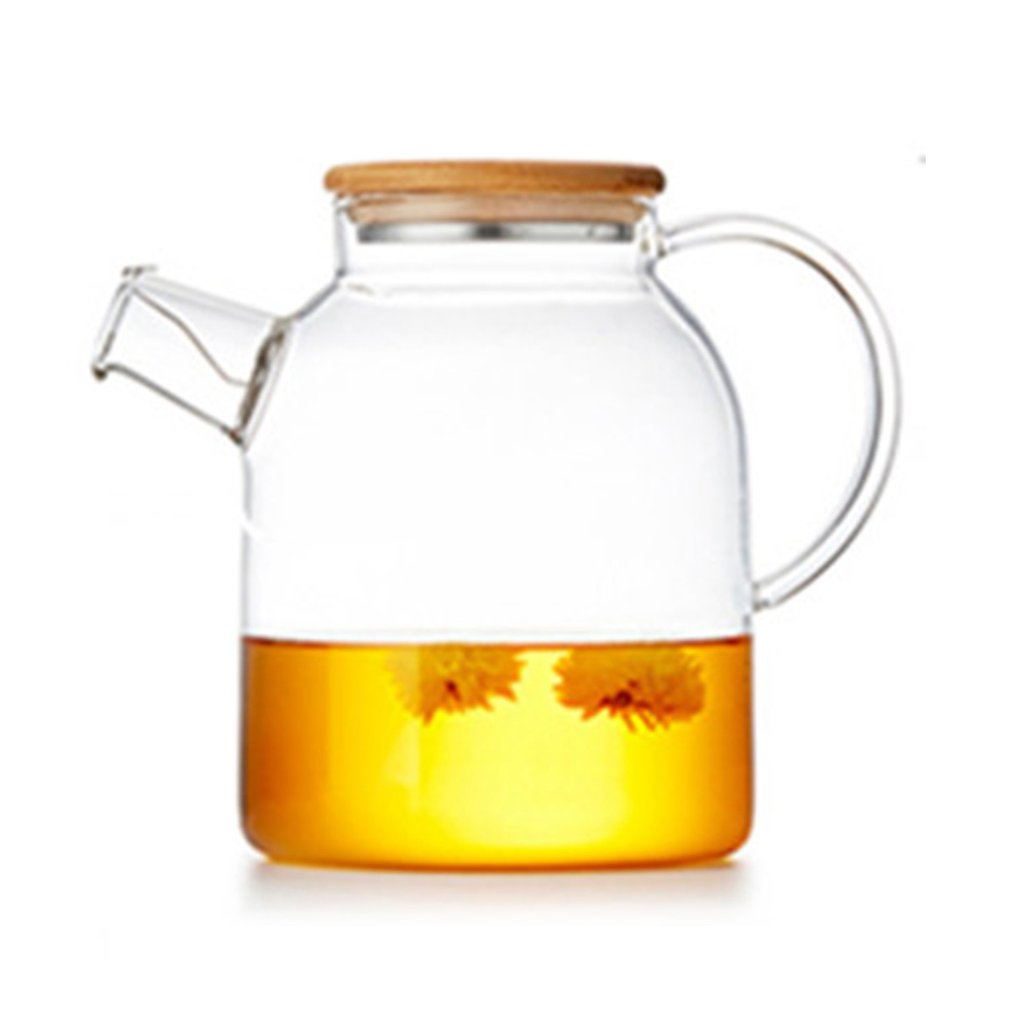 1800ML Thickened High Borosilicate Glass Transparent Heat Resistant Tea Pot Juice Fu Tea Set Teapot With Lid [grandness] 2010 yr fuhai tea factory 7546 raw pu erh cake shen puer tea 357g fu hai puer green tea 357g pu erh green
