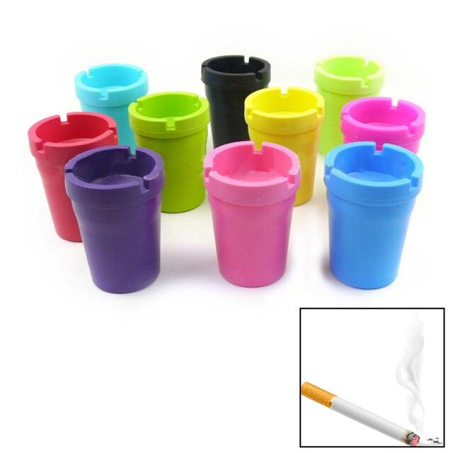 2018 1PC Portable Mini Ashtray Cigarette Cup Car Butt Bucket Smoke Ash Holder Candy Color Tobacciana Ashtrays For Car
