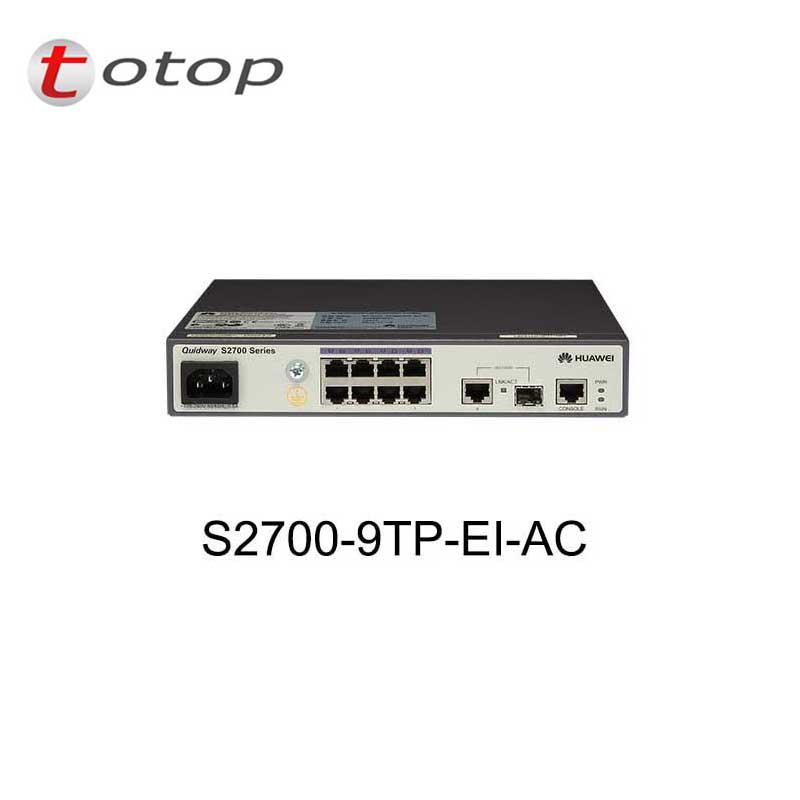 Huawei Switch S2700-9TP-EI-AC With 8 Ethernet 10/100 Ports,1 Dual Purpose 10/100/1000 Or SFP