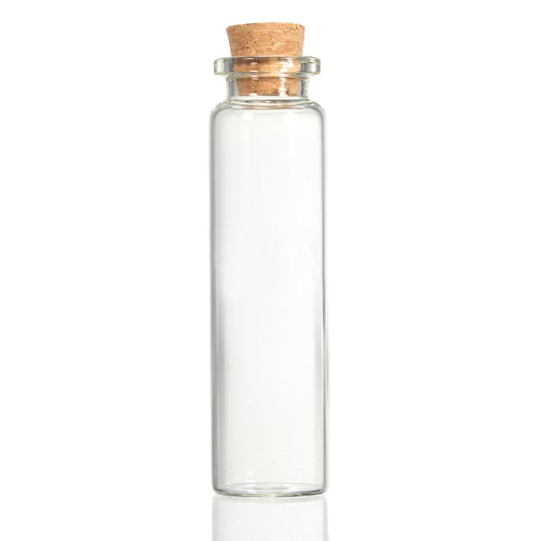 10 Pcs 20ml Mini clear wishing Bottle Message Glass Vial With Cork Home Decor